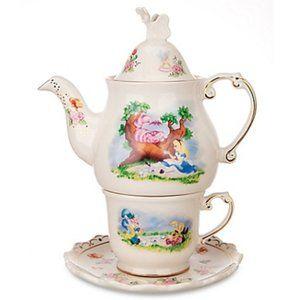 Rare Disney Alice in Wonderland Tea Set MIB